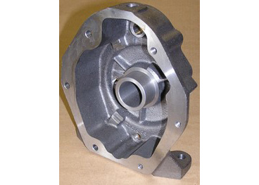 Small Cast iron transmission housing. Completely machined on CNC lathes and 	horizontal machine center.