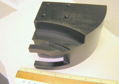 CNC milled part made from Delrin