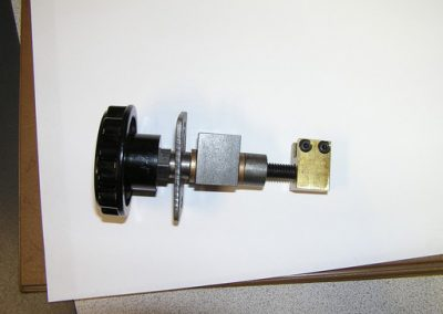 Small assembly used as an adjusting screw, that was reverse engineered from a 	supplied assembled that the OEM no longer made.