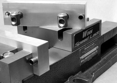 "7"" Precision aluminum vise jaws with round nuts to be used with the quick change vise jaw system"