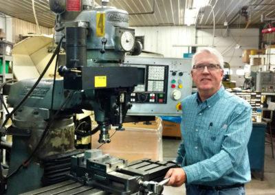 Steve Winn at his manufacturing facility